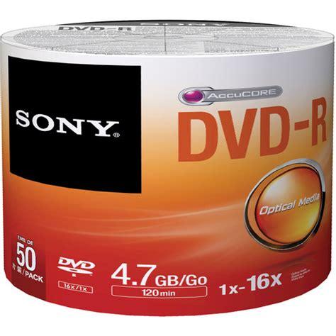 Dvd R Sony Bulk Pack 50 Pcs sony dvd r 4 7gb recordable media 50 discs bulk