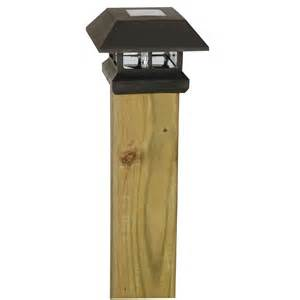 solar powered post light moonrays solar powered post cap l light black at