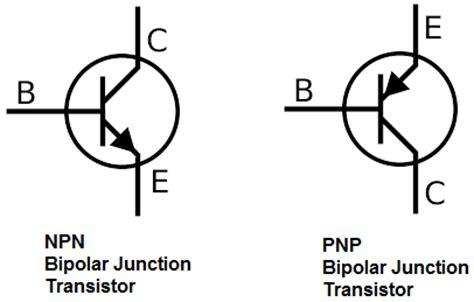 simbol transistor bipolar npn electronic schematic symbols