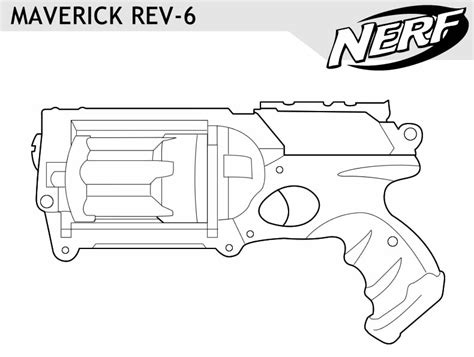 nerf gun coloring pages printable images frompo
