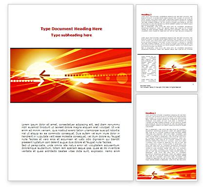 Red Theme Interactive Word Template 08467 Poweredtemplate Com Interactive Word Document Templates