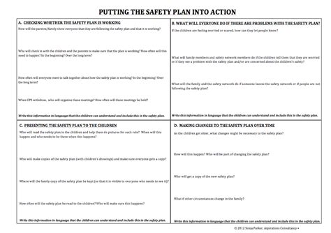 family safety plan template specific tools and processes partnering for safety