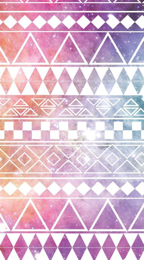 galaxy tribal pattern background tumblr pink galaxy aztec print iphone wallpapers pinterest