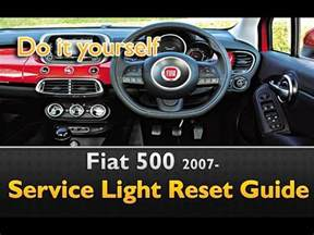 How Much Is A Fiat 500 Service Fiat 500 Service Light Reset