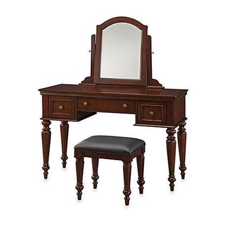 Bed Bath And Beyond Vanity Table Buy Linon Home Darlington Vanity And Bench Set From Bed Bath Beyond