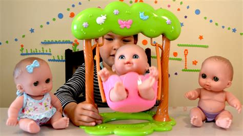 toy swing for baby doll twin baby dolls swing play time triplets baby dolls