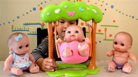 triplet swing twin baby dolls swing play time triplets baby dolls