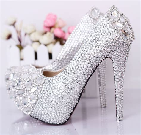 Shoe Bling by Wedding Rhinestone Shoes Ultra High Heels