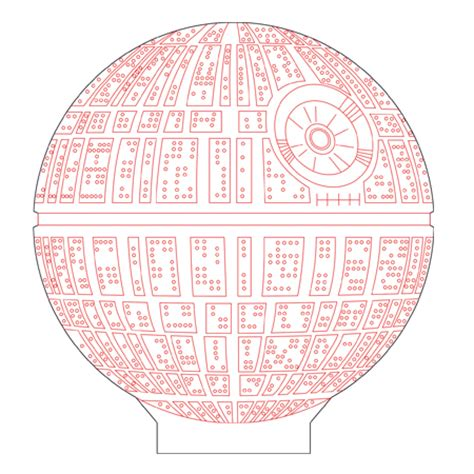 Pig Decor For Home Death Star 3d Illusion Vector File For Cnc 3bee Studio