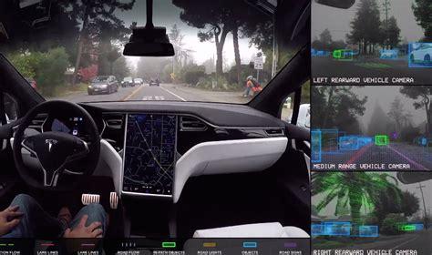 Tesla Digital Tesla Shows What Autopilot Cameras See And Manage