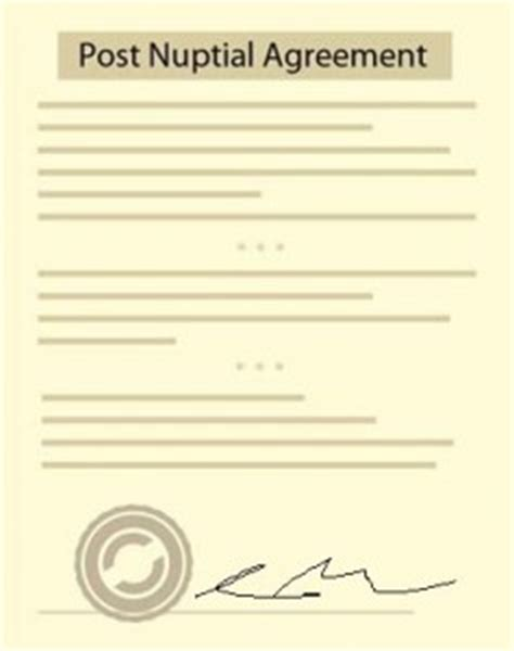 Post Nuptial Agreement Free Agreement Form And Sle Post Nuptial Template