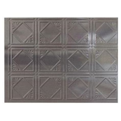 backsplash panels home depot fasade cross hatch silver panel metal backsplash from home