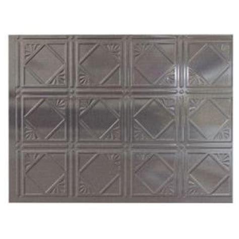 fasade cross hatch silver panel metal backsplash from home