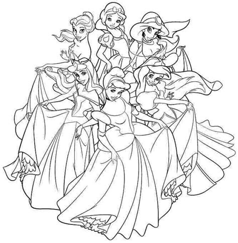 disney princess coloring pages  adults  getcolorings