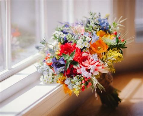 wildflower arrangements top ten wildflower wedding bouquets rustic wedding chic