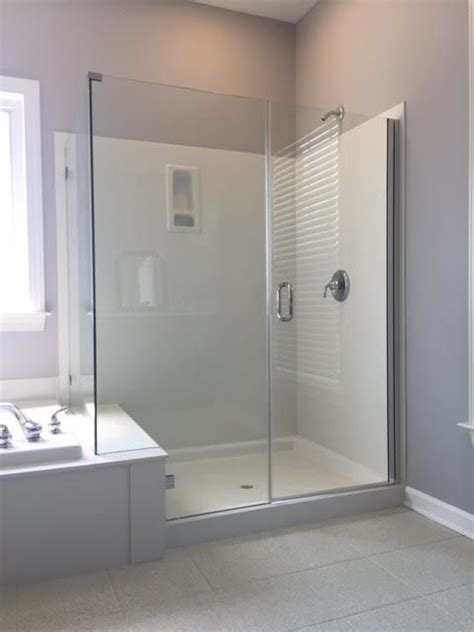 Frameless Shower Doors For Fiberglass Showers by If You Cultured Marble Or Fiberglass On Your Shower