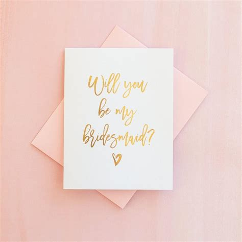 Gift Cards For Bridesmaids - gold foil will you be my bridesmaid card bridesmaid proposal bridesmaid invitation
