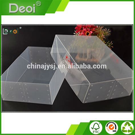 Transparant Shoes Box Penyimpanan Sepatu factory custom made practical plastic clear storage shoe box buy shoe box plastic shoe box