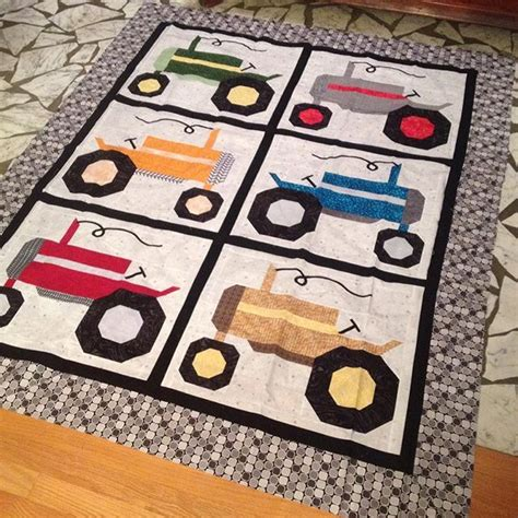 17 best ideas about tractor quilt on kid