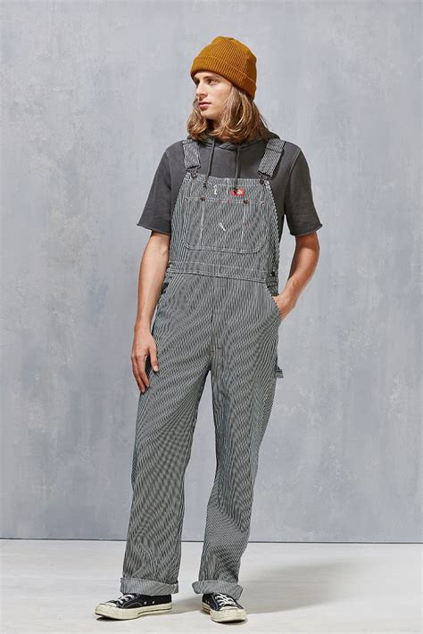 Blue Shirt Navy Overall Cs0610 lyst dickies hickory stripe bib overall in blue for