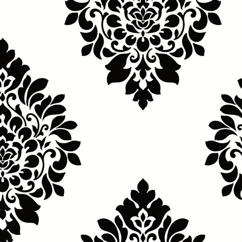 black and white damask wallpaper home depot norwall medallion damask wallpaper bw28736 the home depot