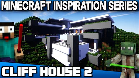 minecraft modern manor inspiration w keralis youtube cliff house 2 minecraft inspiration series with keralis