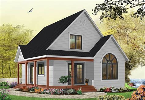 country cottage house plans with porches country cottage with wrap around porch 21492dr