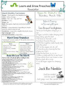 Learn And Grow Designs March Preschool Newsletter Download Community Helpers Classroom Early Childhood Newsletter Templates