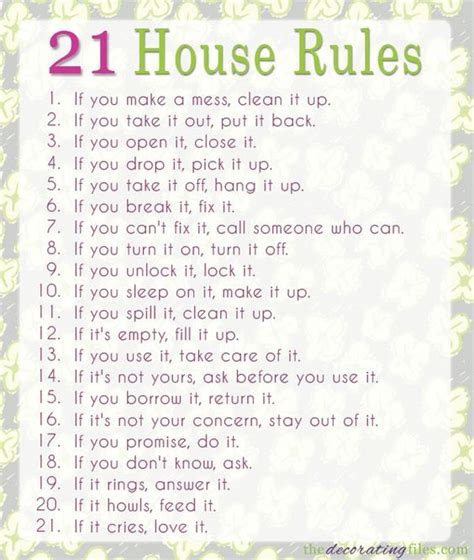 printable house rules image gallery house rules