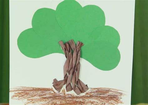 A Tree Out Of Paper - how to make paper trees