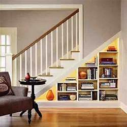 Staircase Shelf Under Stair Storage Solution Staircase Den Home Office