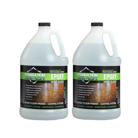 Foundation Armor Epoxy 2 gal. Water Based Clear High Gloss