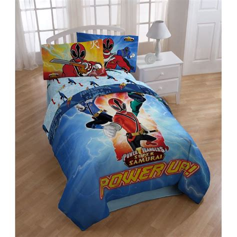 power rangers bedroom power rangers samurai twin size 4 piece comforter set