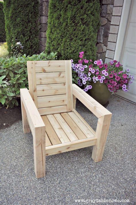 diy modern rustic outdoor chair plans  outdoor