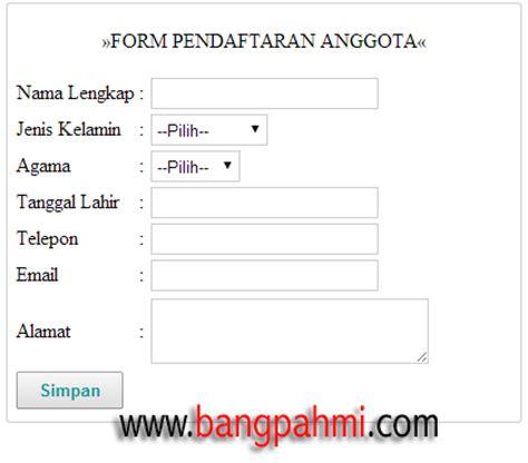 cara membuat form kuesioner membuat form edit dan delete anggota dengan php dan mysql