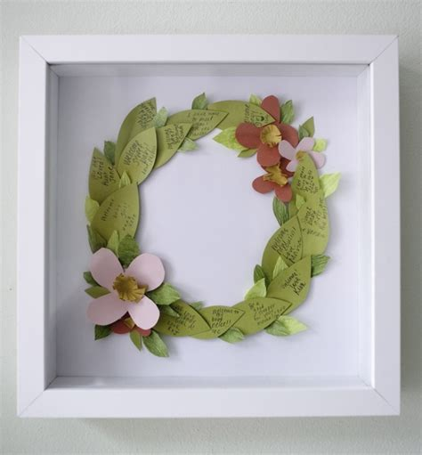 floral wreath guestbook diy