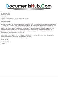 Sle Apology Letter To For Misconduct Apology Letter Due To Misconduct With
