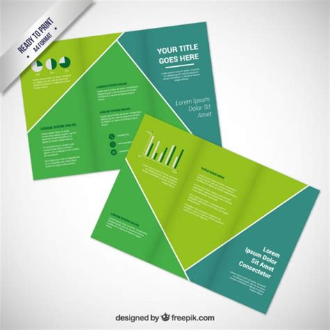 green brochure template green brochure template vector free