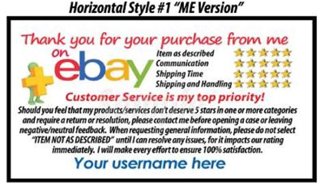 250 Custom Personalized 5 Star Dsr Reminder Thank You Cards For The Ebay Seller Ebay Ebay Payment Reminder Template