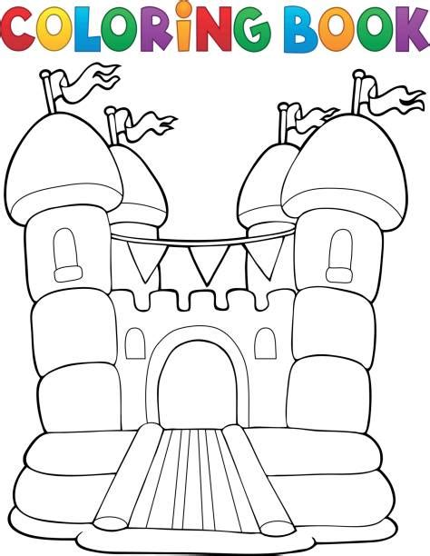 bouncy castle coloring page royalty free bouncy castle clip art vector images