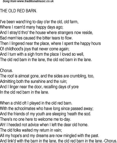 The Barn Is On Song lyrics espa 195 ƒ 194 177 ol imgur
