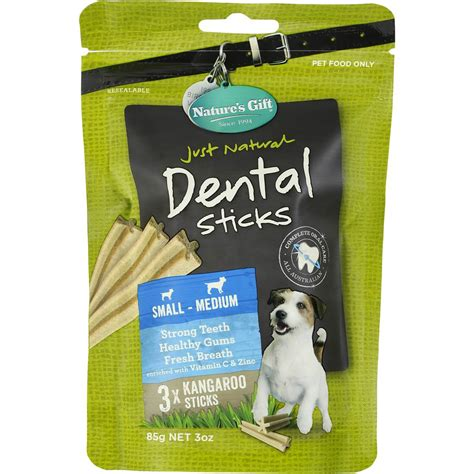 dental sticks for dogs natures gift dental sticks small to medium dogs 85g woolworths