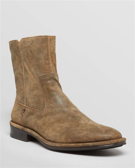 varvatos boots varvatos collection mercer suede boots in brown for
