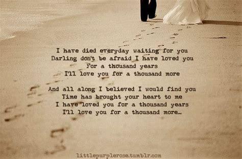 wedding song a thousand years a thousand years perri lyrics i