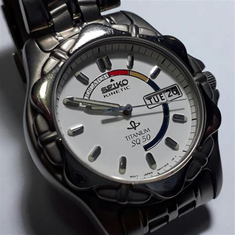 Seiko Kinetic Sq50 Original seiko kinetic sq50 skj series titanium s