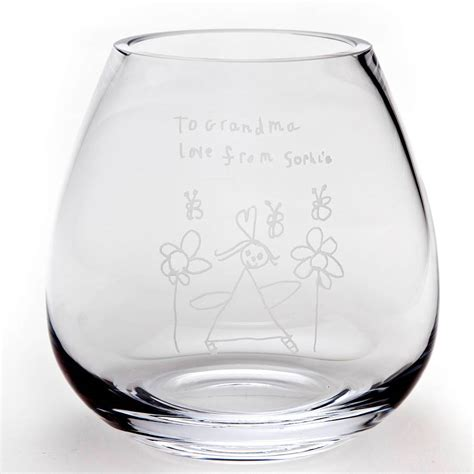 Glass Photo Vase by Personalised Engraved Glass Flower Vase The Gift Of Glass