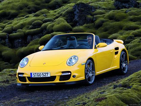 Porsche 911 Turbo Gelb by 2008 Yellow Porsche 911 Turbo Cabriolet Wallpapers