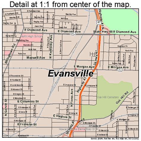 map of evansville indiana evansville indiana map 1822000