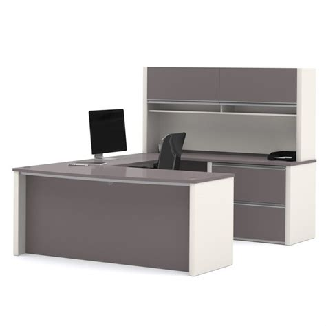 bestar connexion 6 u shaped home office set with