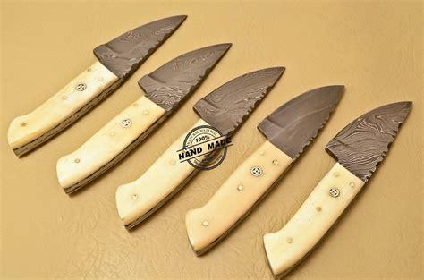 skinner knife lot of 10 pcs damascus skinner knife custom handmade damascus